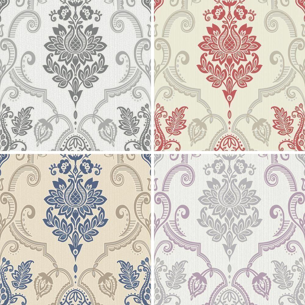 New Holden Sandringham Floral Damask Pattern Glitter Vinyl