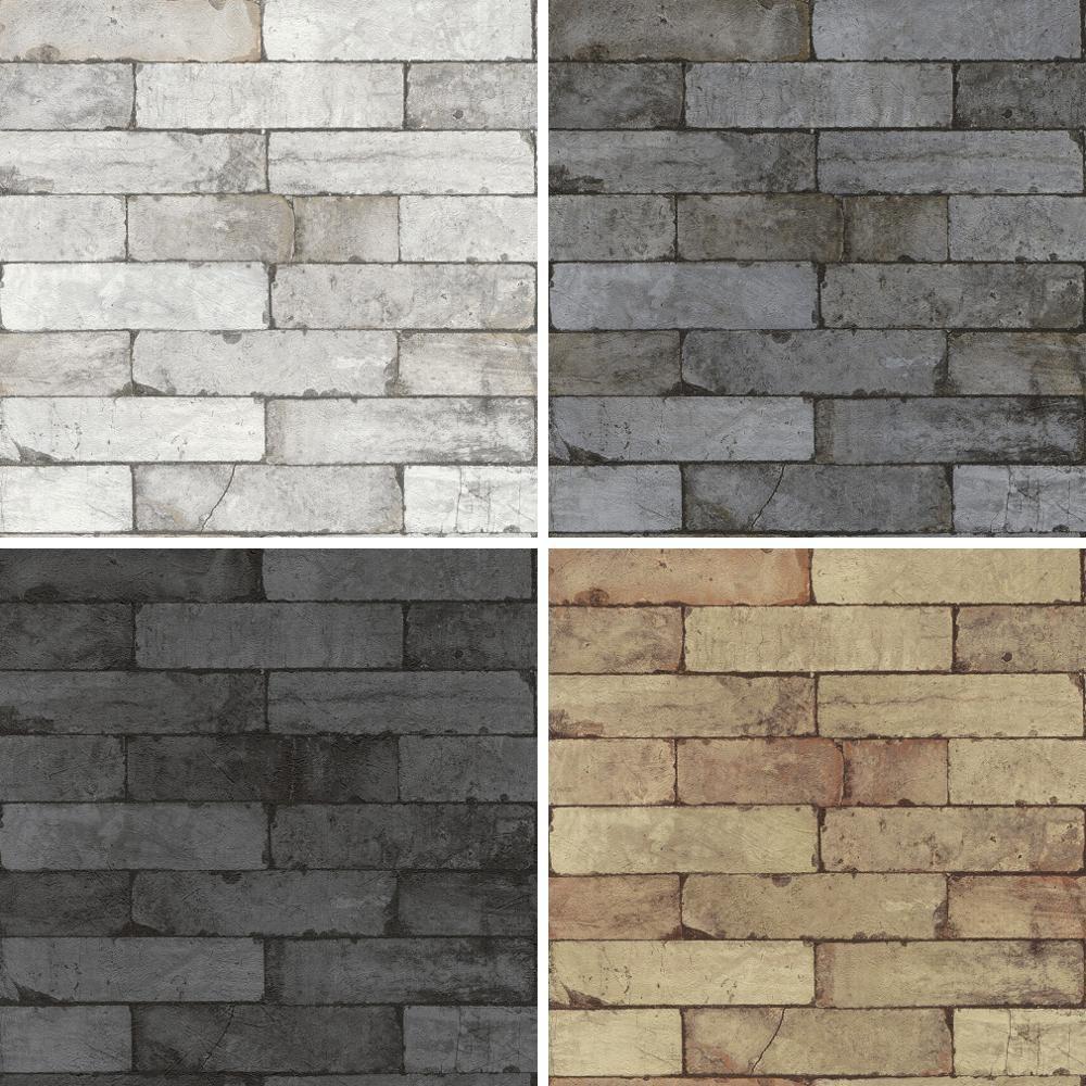 Détails Sur Nouveau Rasch Usine Pierre Motif Mur De Briques Effet Faux Texturé Papier