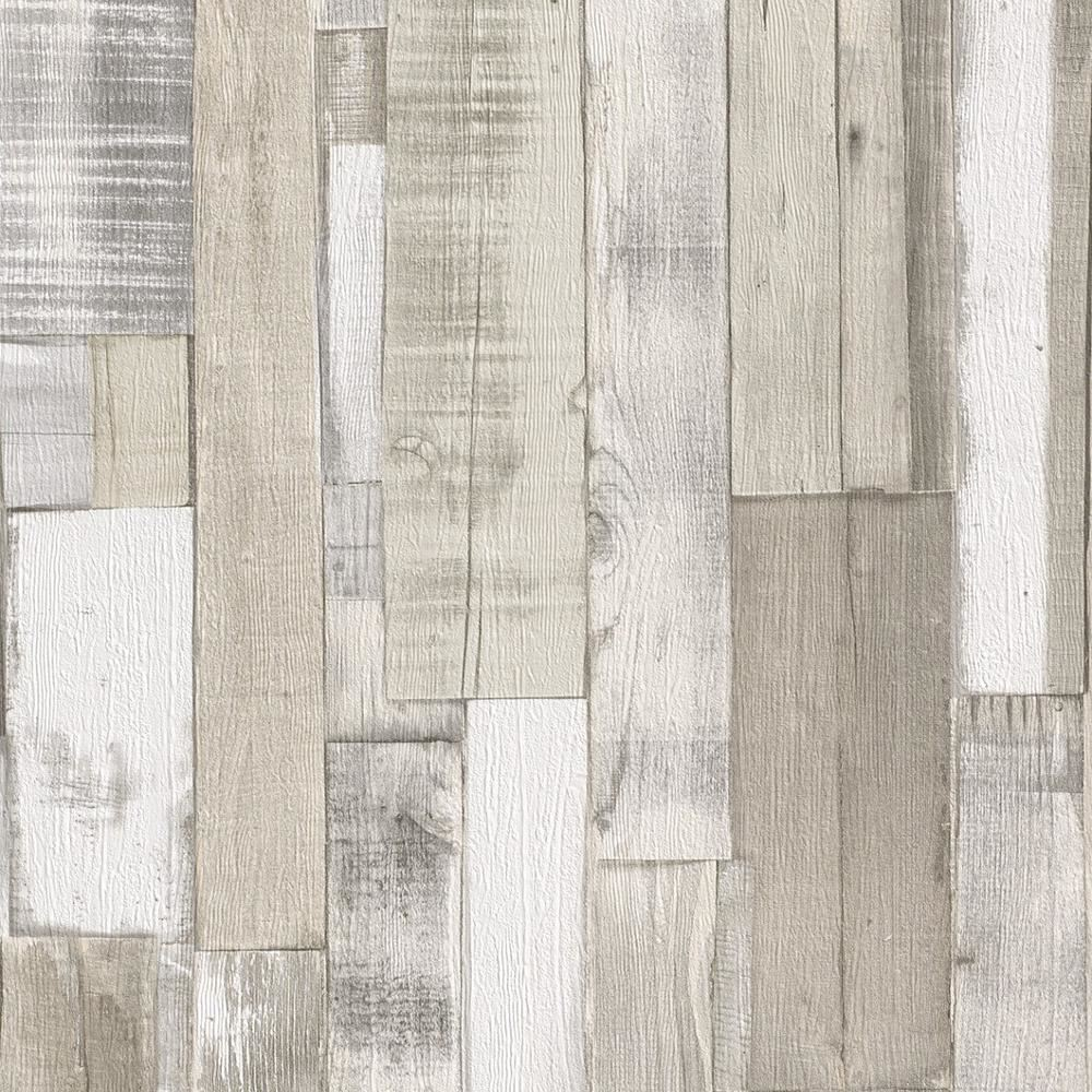 Realistic Wood Wallpaper Faux Wooden Effect Modern