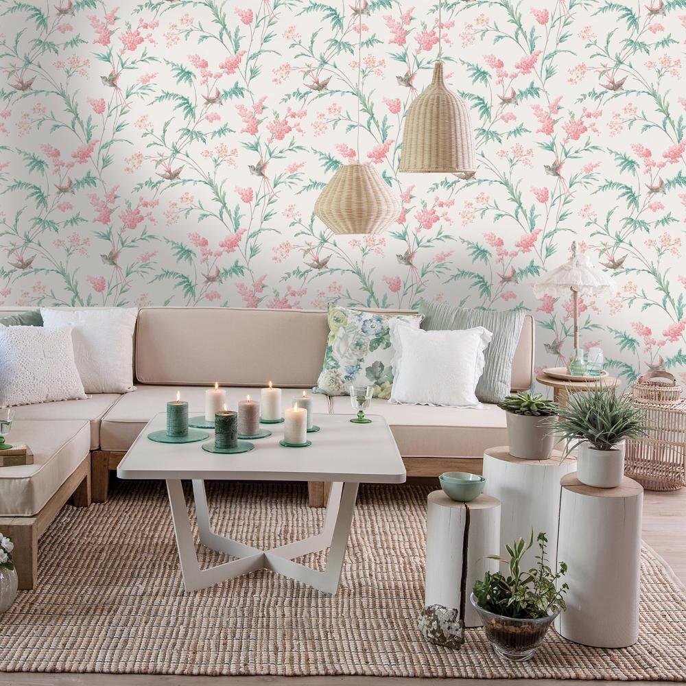 Holden Decor Jasmine Floral Pattern Wallpaper Bird Flower