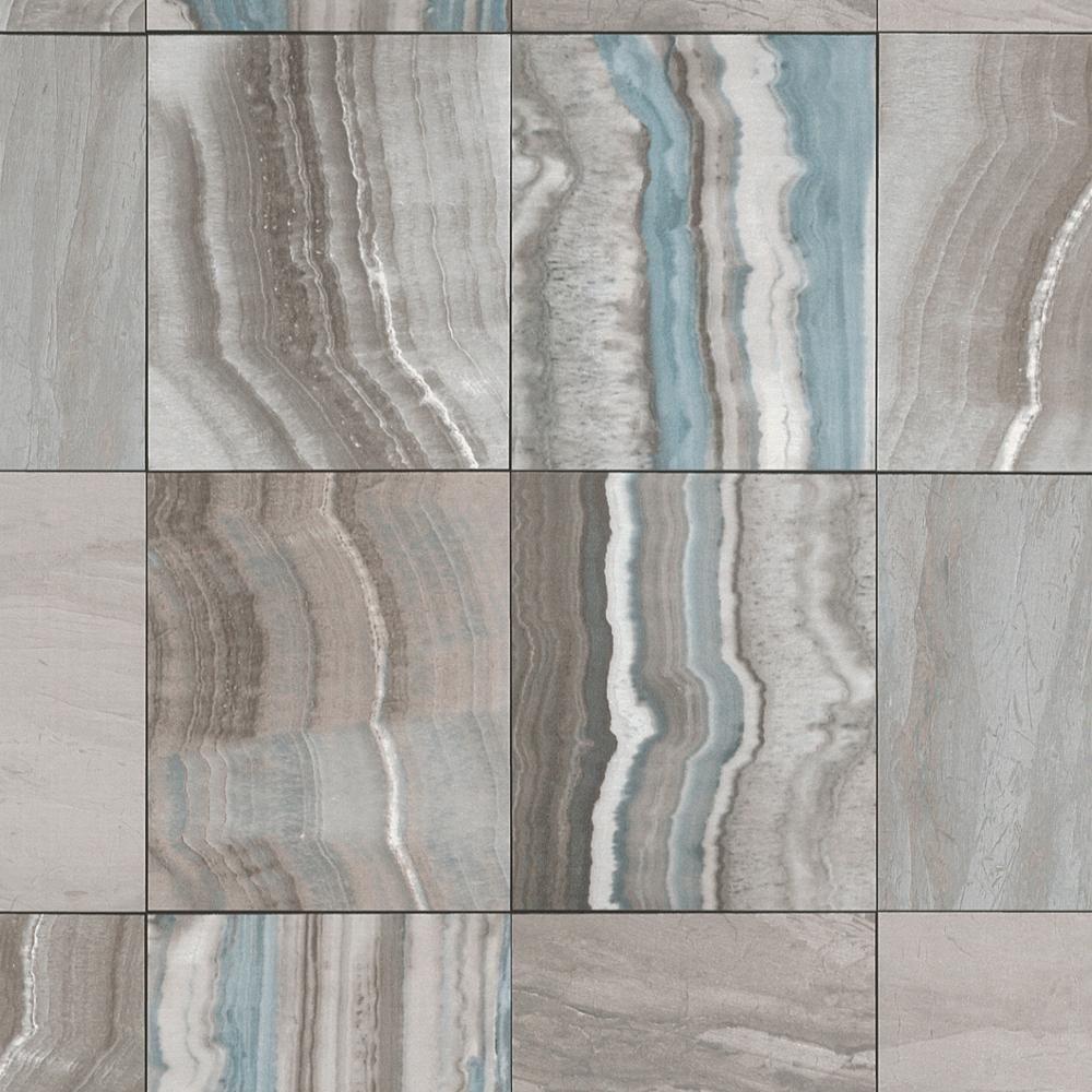 Rasch marbre tuile motif papier peint pierre effet faux - Papier peint faux marbre ...