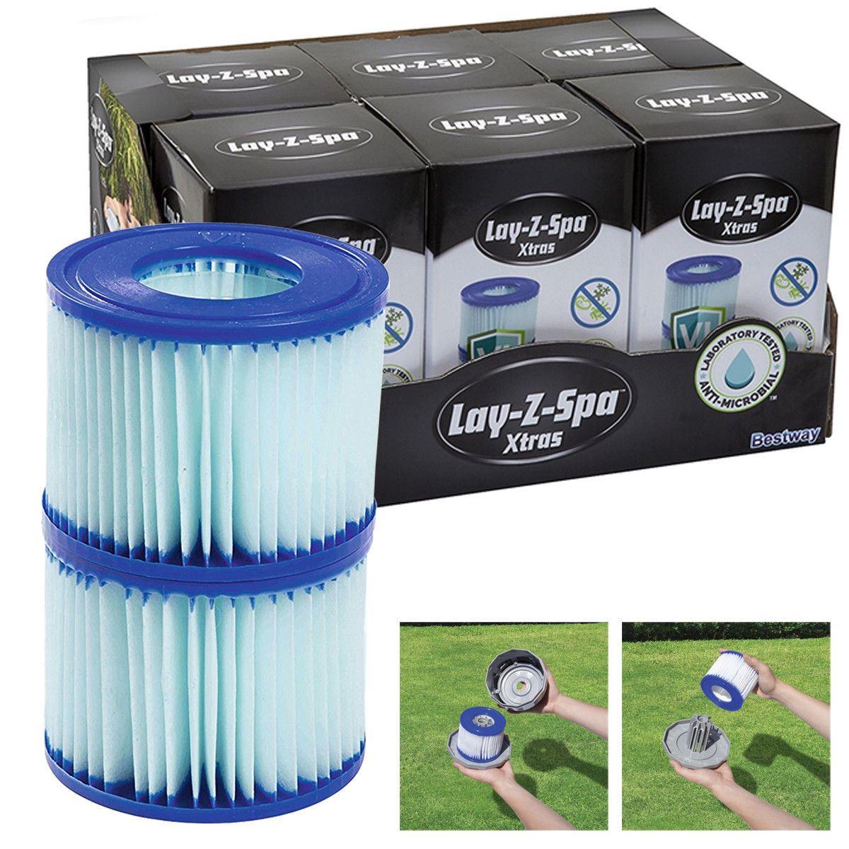 CARTUCCE Filtro Spa si adatta BESTWAY LAY-Z PISCINE SPA /& vasche idromassaggio confezione da 8