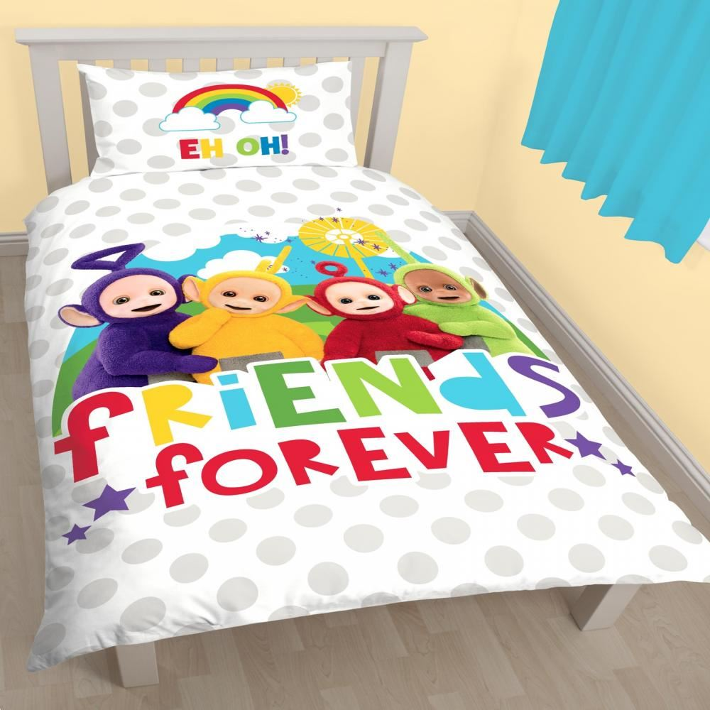 Cartoon character singolo set copripiumino federa bambini ebay - Trapunta letto singolo bambino ...