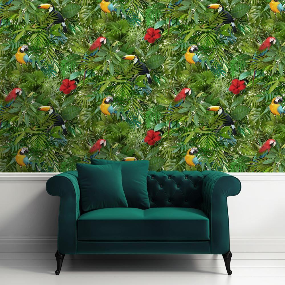papier peint jungle tropicale. Black Bedroom Furniture Sets. Home Design Ideas