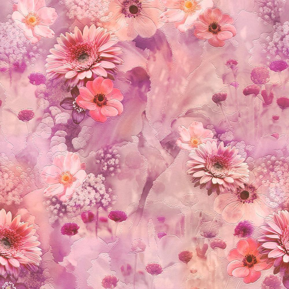 Rasch Fleurs Roses Motif Papier Peint Cuisine Floral Rose Jardin