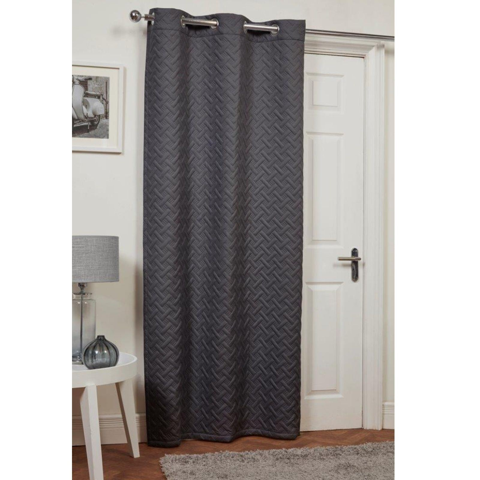 draft excluder curtains for doors. Black Bedroom Furniture Sets. Home Design Ideas