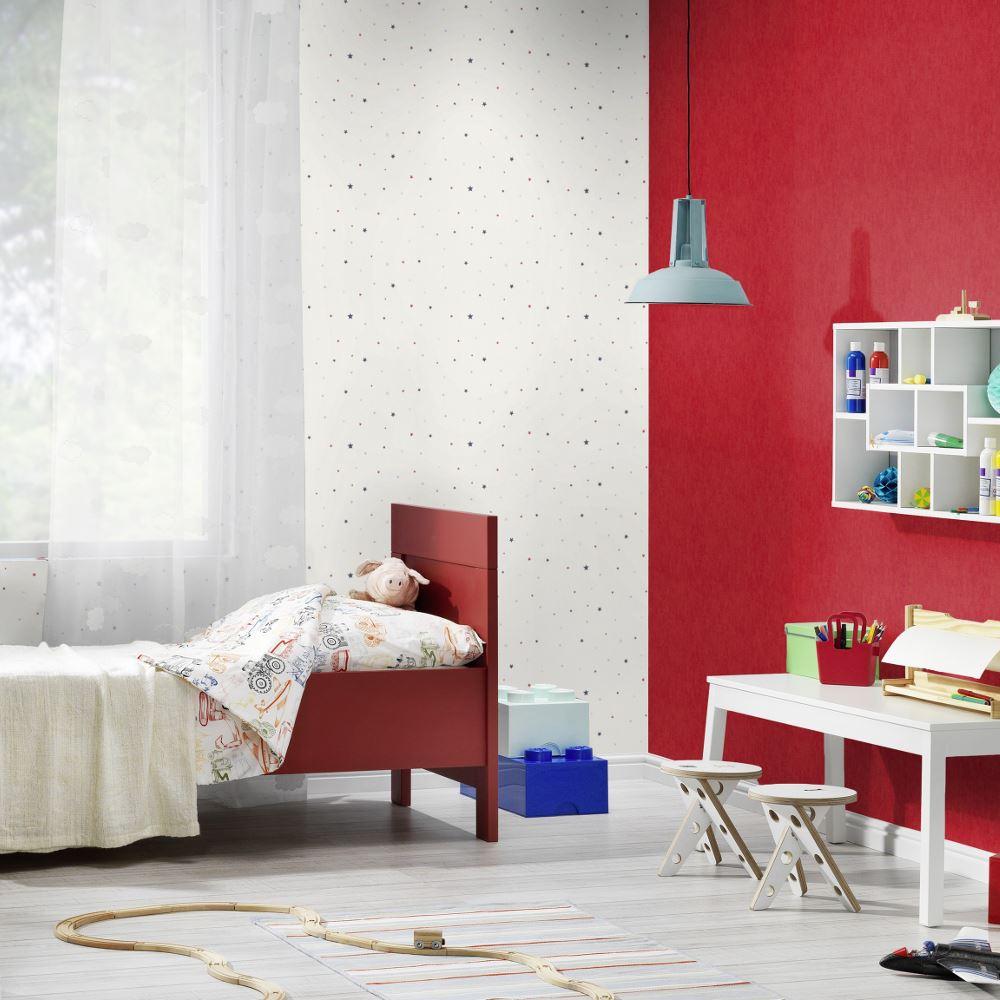 Rasch Star Pattern Childrens Bedroom Wallpaper Nursery