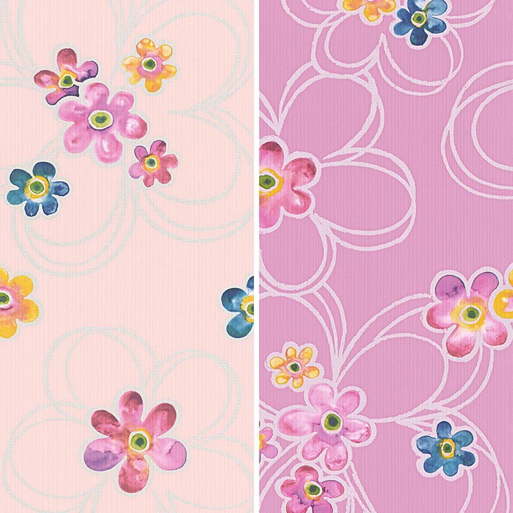 Papier Gaufré À Peindre détails sur neuf as creation peinture à l'eau motif fleur métallique floral  rouleau papier