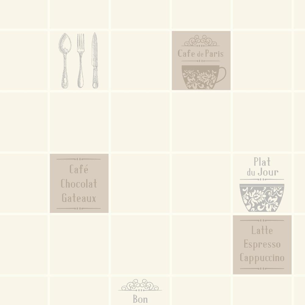 nouveau rasch tuile motif caf restaurant cuisine vinyle. Black Bedroom Furniture Sets. Home Design Ideas