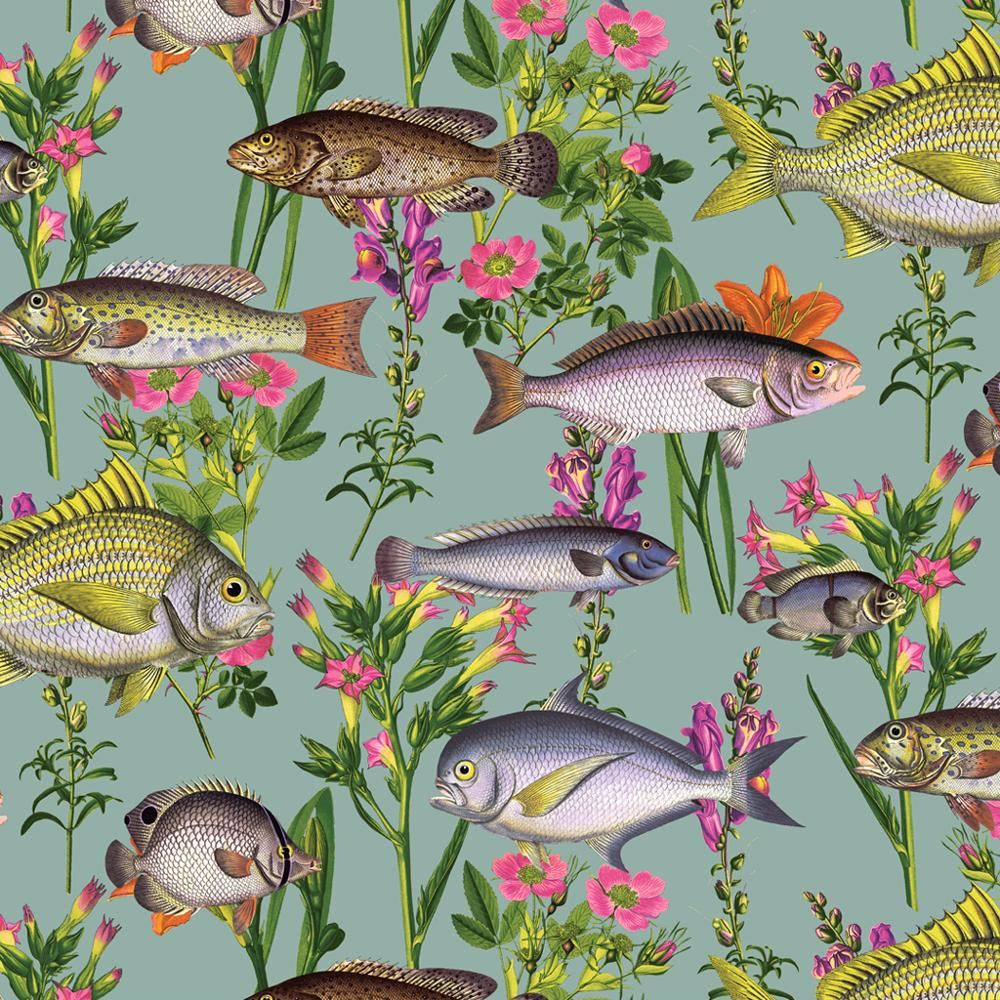 Holden Decor Lagoon Fish Pattern Wallpaper Sea Life