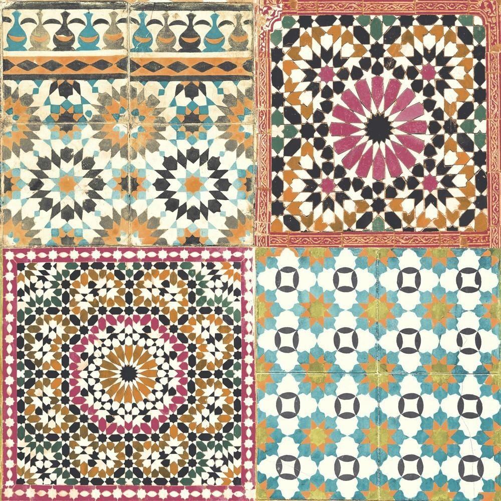 Grandeco botanical moroccan tile pattern wallpaper retro floral grandeco botanical moroccan tile pattern wallpaper retro floral dailygadgetfo Images