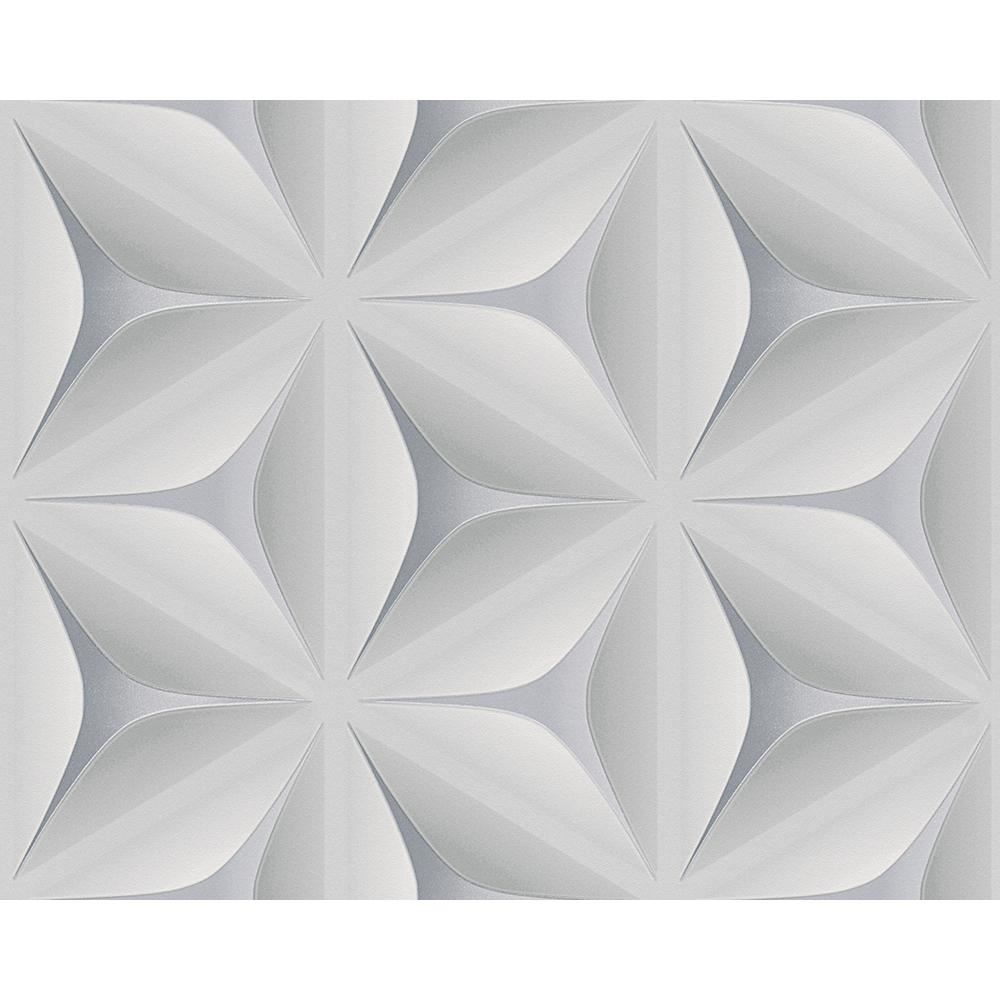 NEW AS CREATION ABSTRACT STAR LEAF PATTERN EMBOSSED NONWOVEN 3D