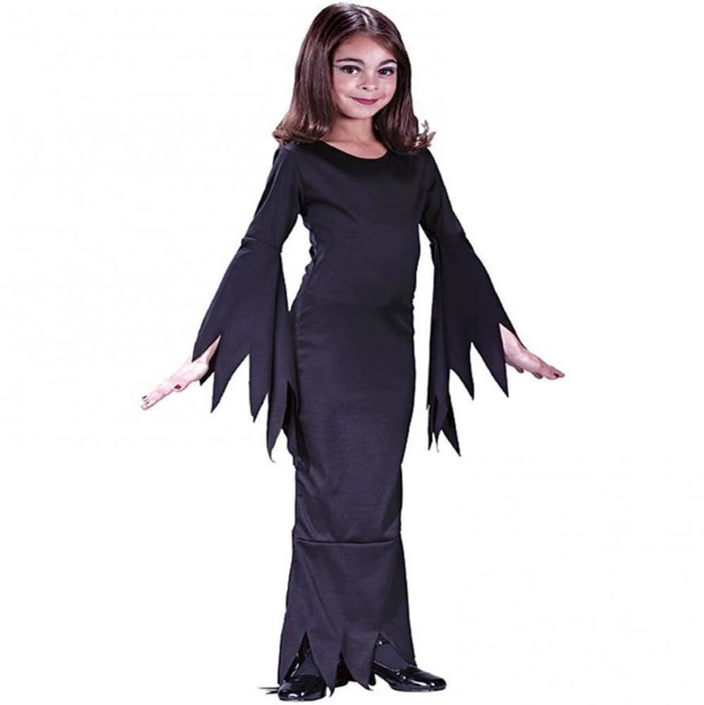 CHILDRENS MORTICIA ADDAMS FAMILY GIRLS HALLOWEEN FANCY DRESS COSTUME KIDS OUTFIT  sc 1 st  eBay & CHILDRENS MORTICIA ADDAMS FAMILY GIRLS HALLOWEEN FANCY DRESS COSTUME ...