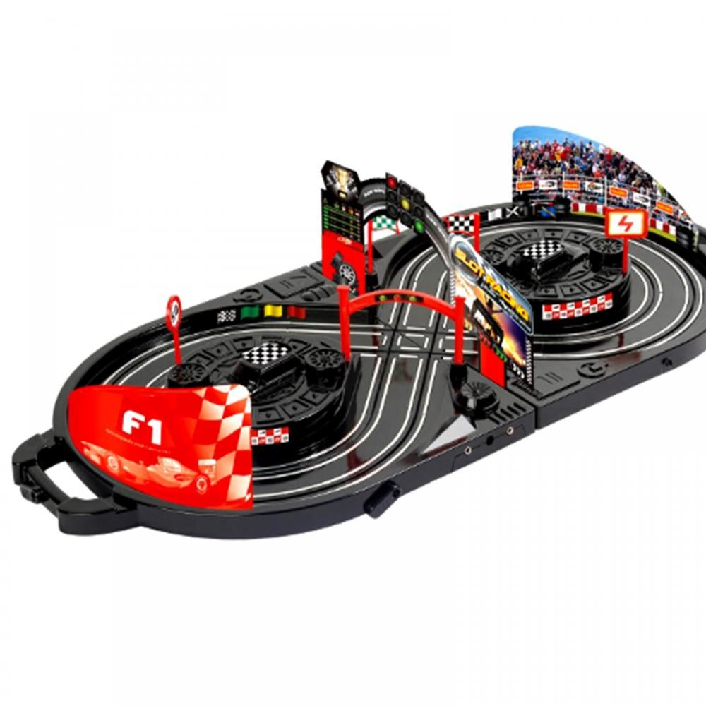 Manual Control Slot Car Racing track Kids Toy Childrens ...