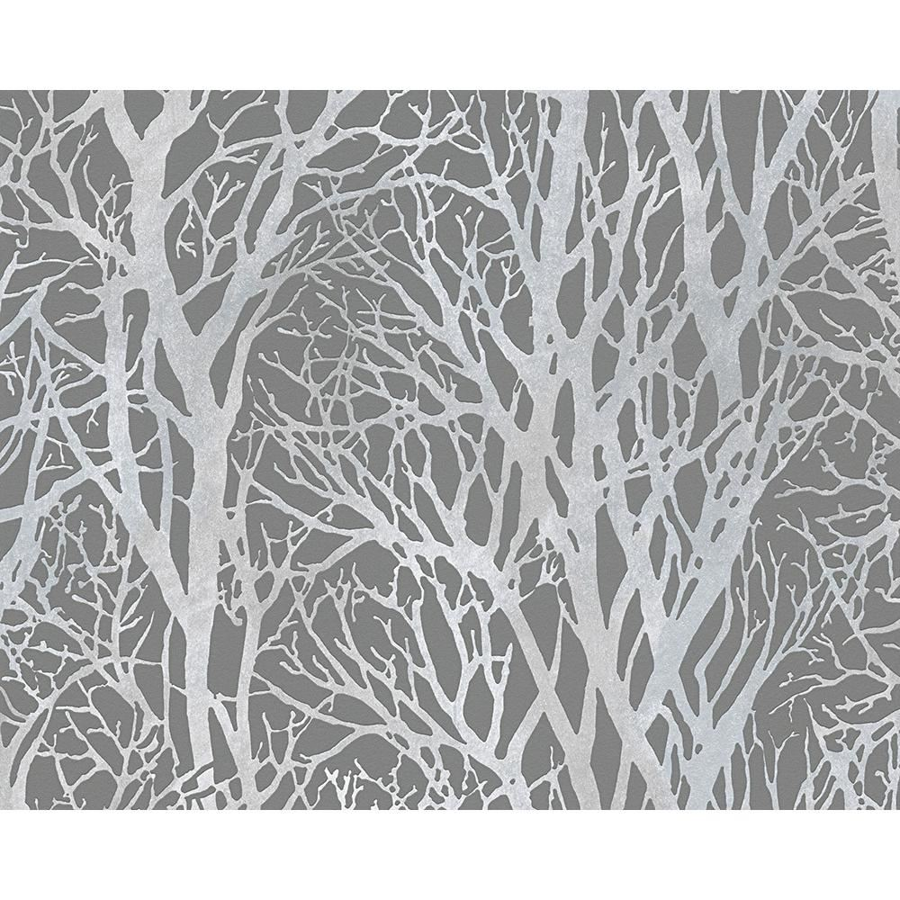 new as creation forest pattern wood tree metallic pearl motif embossed wallpaper ebay. Black Bedroom Furniture Sets. Home Design Ideas