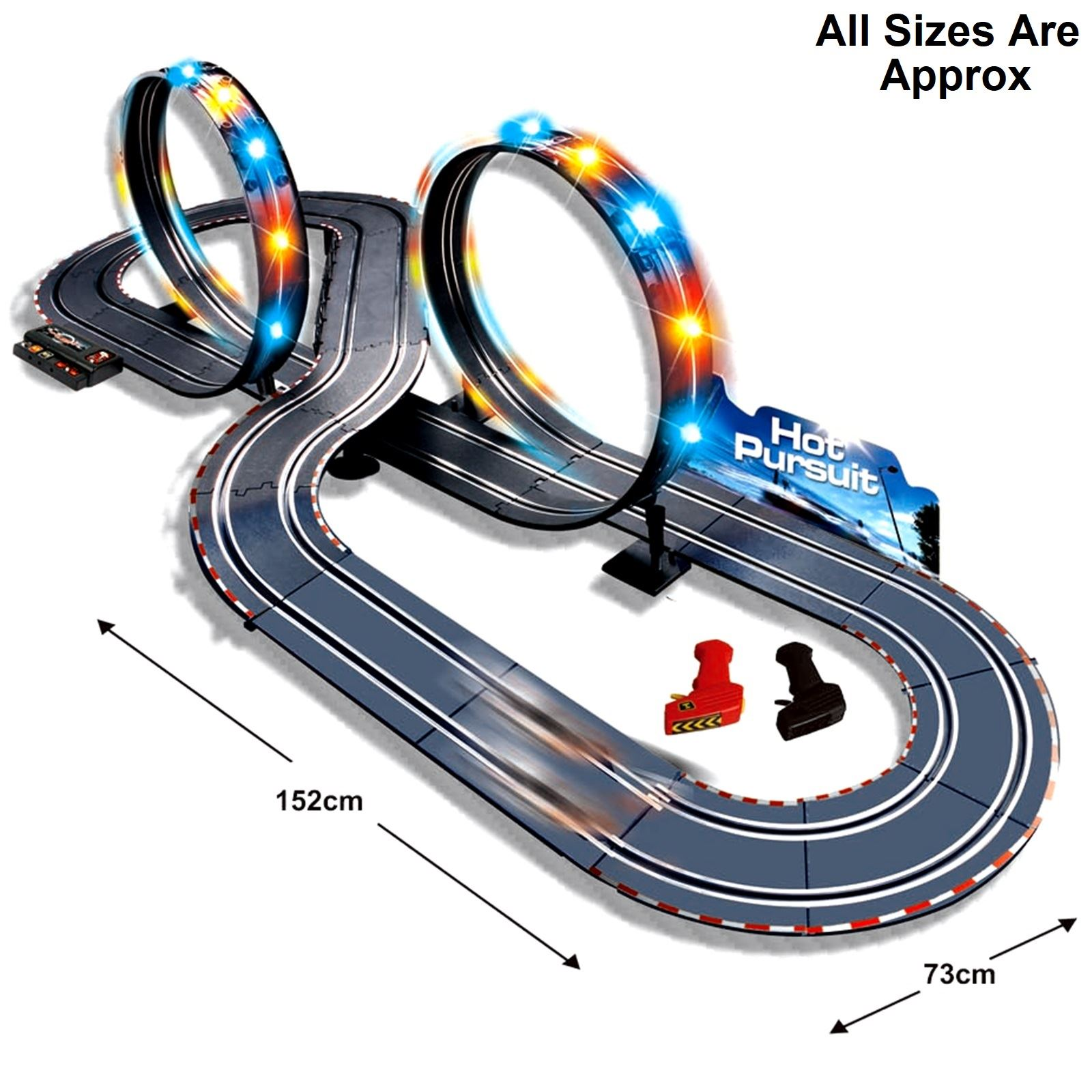 A perfect race car track designed for use by little kids is Carrera First Disney/Pixar Cars 3 – Slot Car Race Track.The track offers feet of racing distance.It features a themed decor which makes it appealing to look at.Furthermore, the set includes two cars - a Lightning McQueen car and a .
