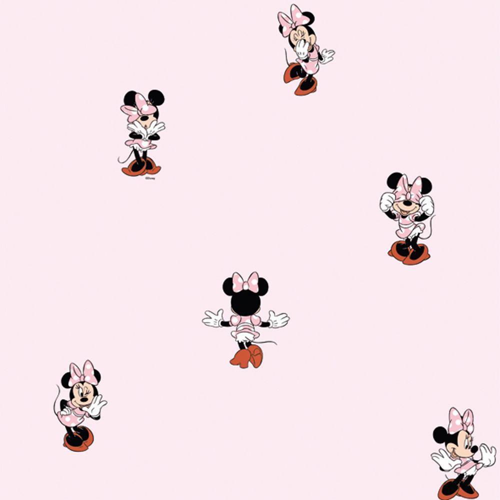 Details zu Neu Galerie Official Disney Minnie Mouse Kinder Schlafzimmer  Abwaschbare Tapete
