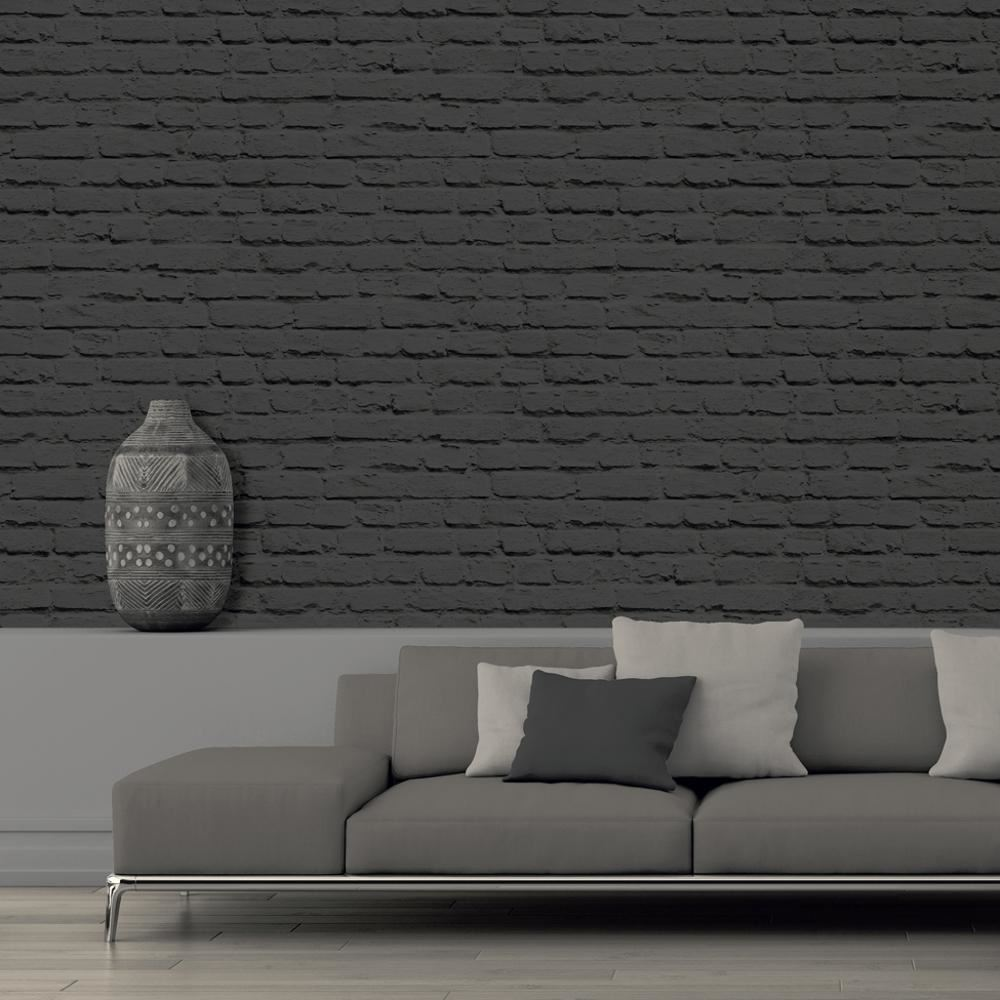 new muriva painted brick faux stone wall mural washable vinyl wallpaper roll ebay. Black Bedroom Furniture Sets. Home Design Ideas