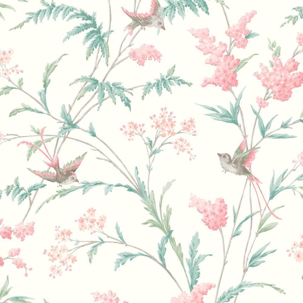 holden decor jasmine floral pattern wallpaper bird flower leaf