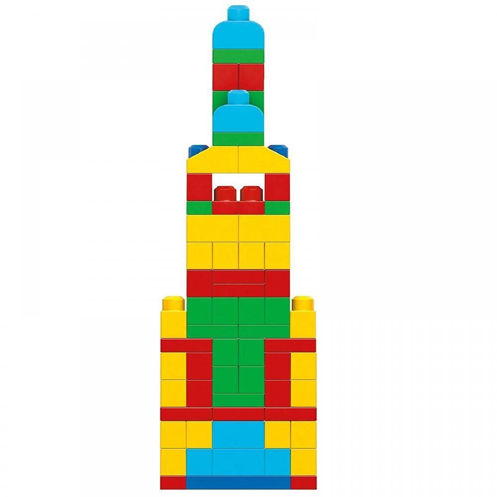 Mega Bloks 100 Piece Building Blocks Tower Educational
