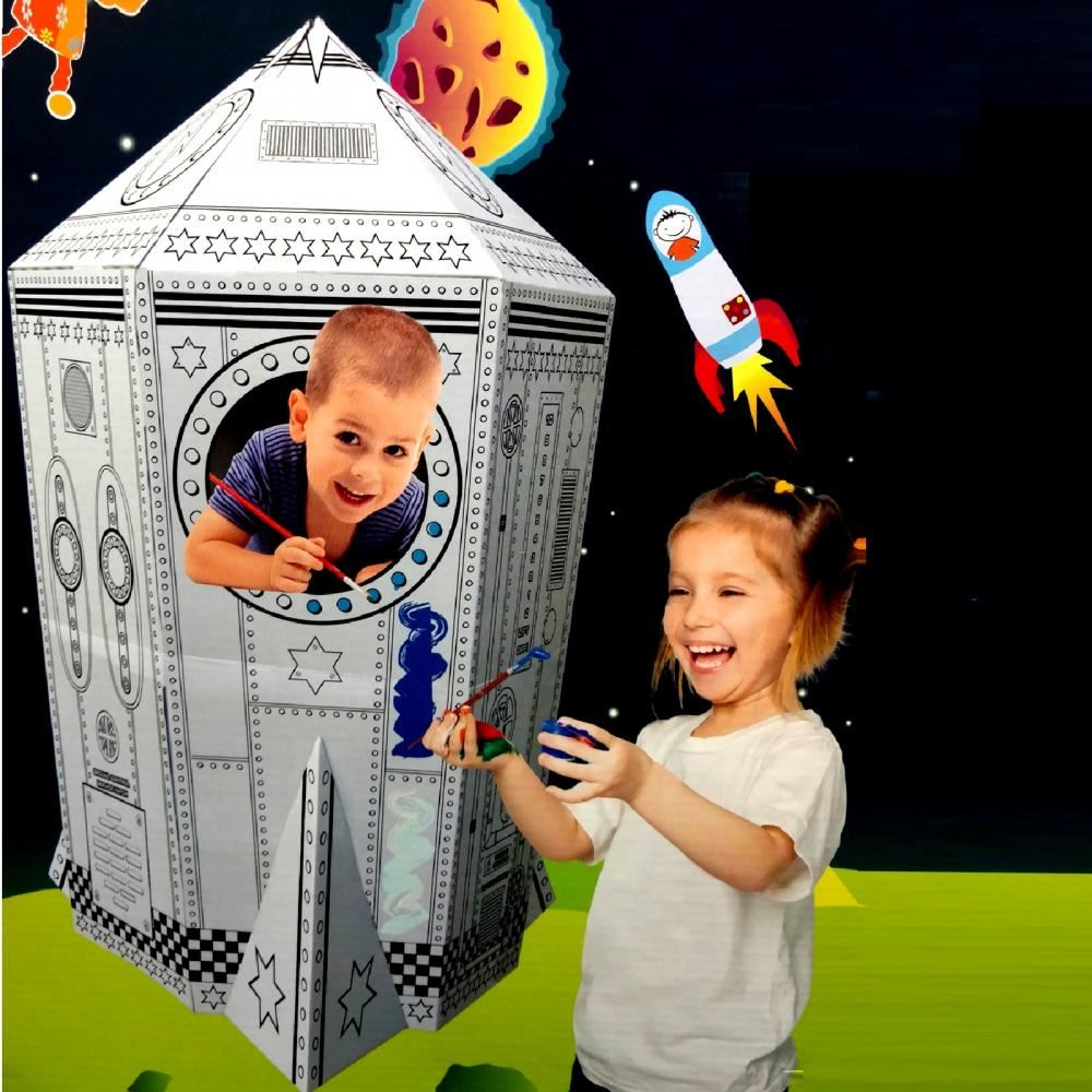colour your own rocket ship house childrens playhouse kids