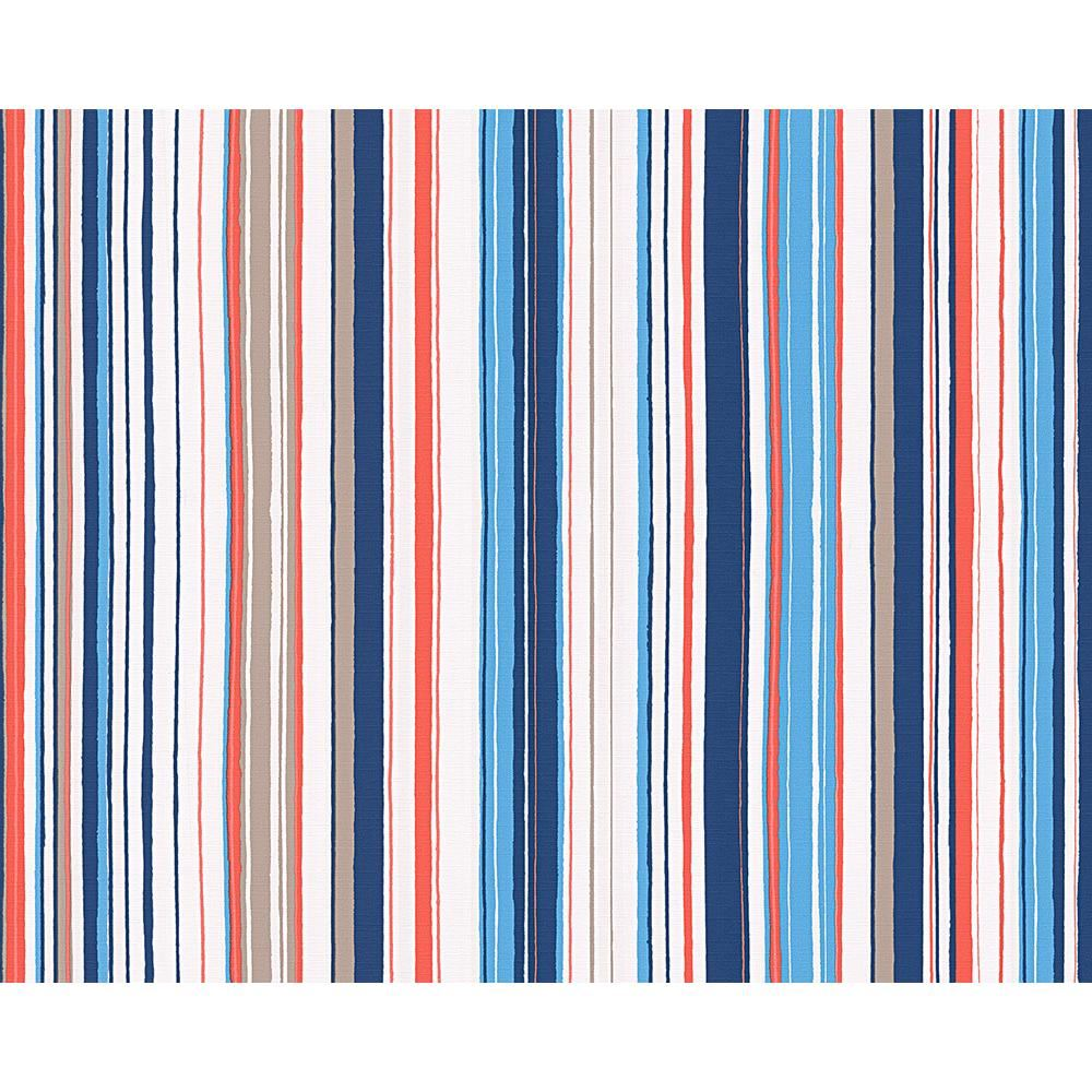 NEW AS CREATION OILILY STRIPE PATTERN FABRIC TEXTURED