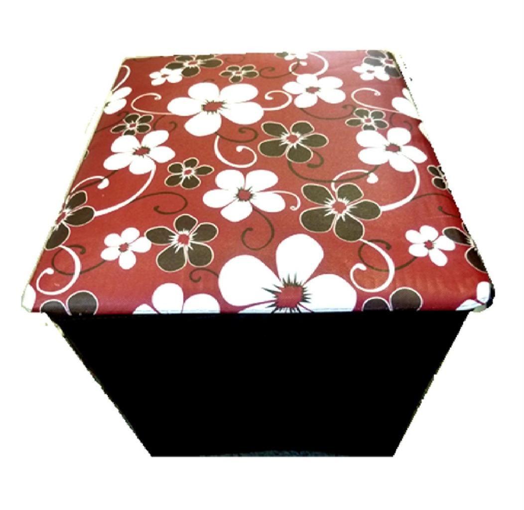 Nuevo floral beso de labios plegable almacenaje puf - Reposapies con almacenaje ...