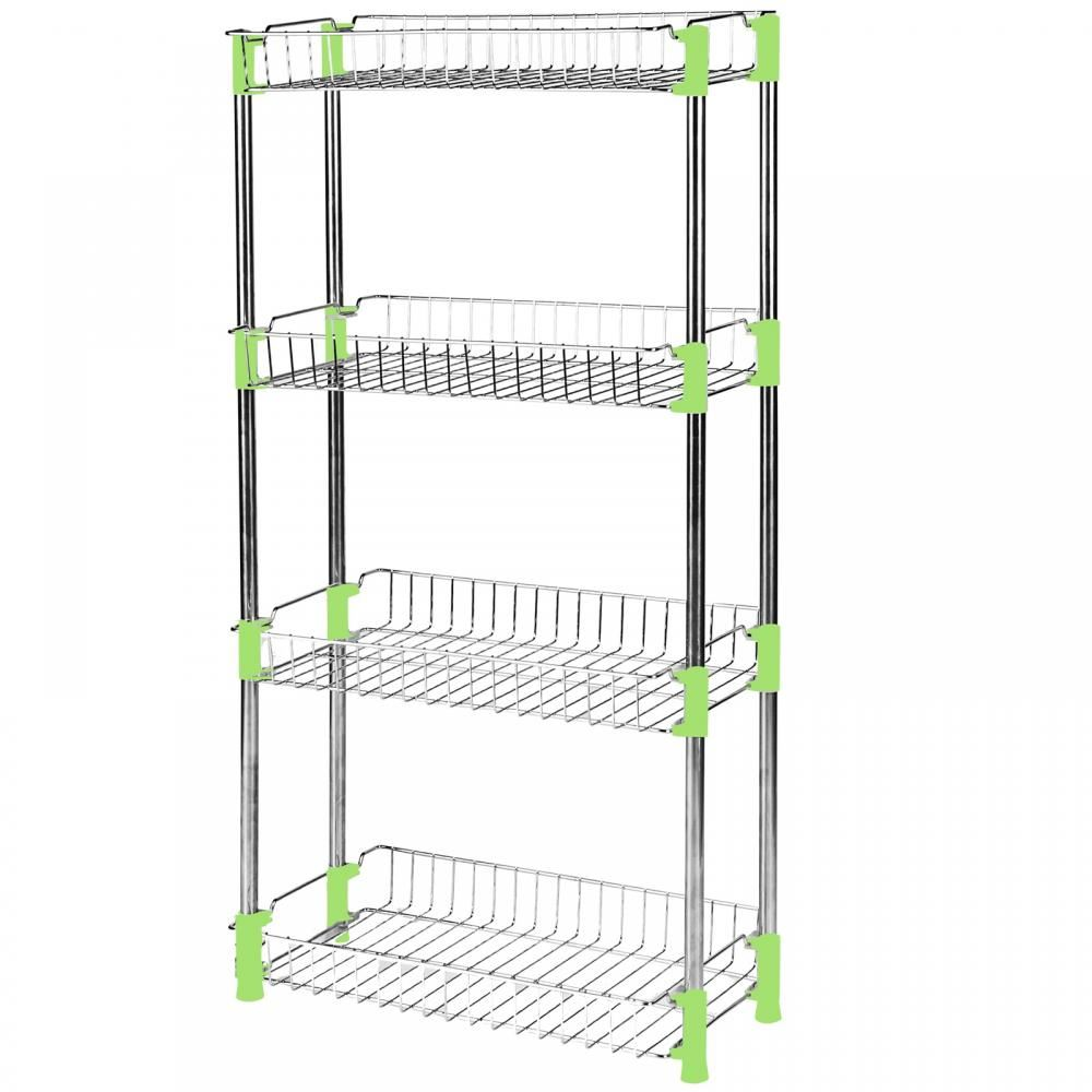 Chrome Metal 4 Tier Bathroom Hanging Shower Caddy Storage Rack ...