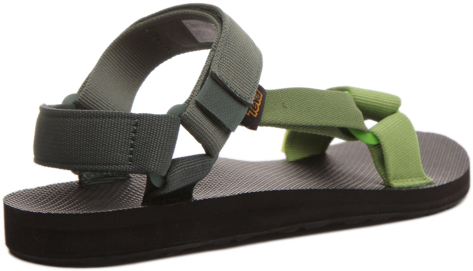 miniatura 9 - Teva Original Universal Da Uomo Con Cinturino Sandalo in Verde Taglia UK 6 - 12