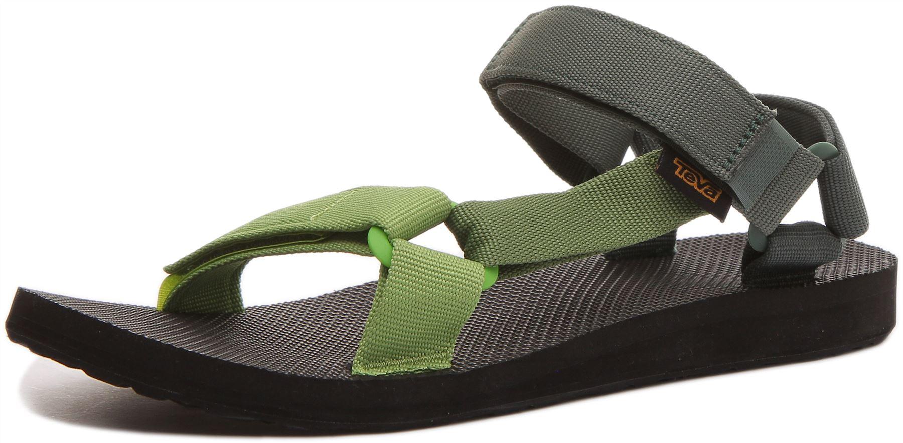 miniatura 12 - Teva Original Universal Da Uomo Con Cinturino Sandalo in Verde Taglia UK 6 - 12