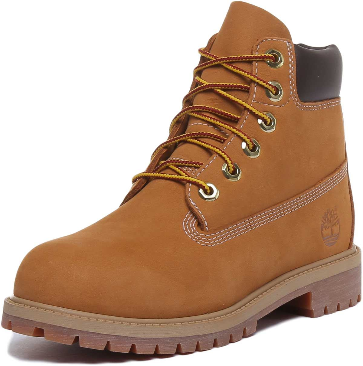 thumbnail 12 - Timberland-12909-Juniors-6-Inch-Premium-Lace-Up-In-Wheat-Size-UK-3-7