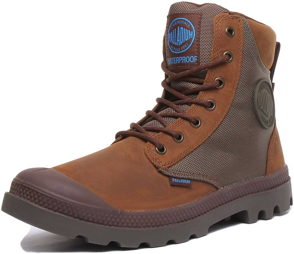 thumbnail 12 - Palladium Spor Cuf Wpn Lace Up Wp Eva Footbed Boot In Brown Size Uk 6 - 12