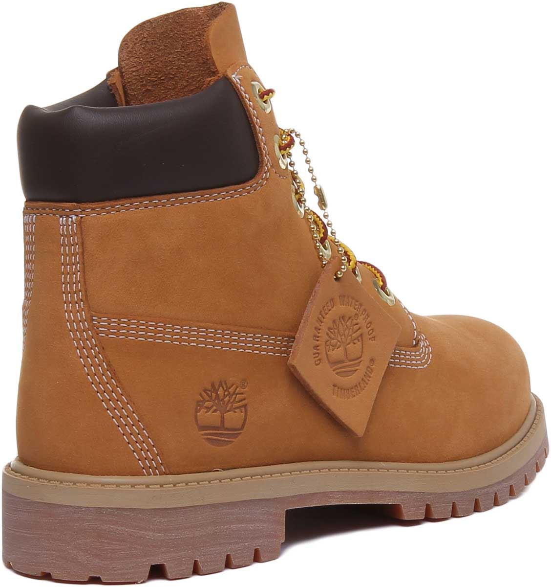 thumbnail 9 - Timberland-12909-Juniors-6-Inch-Premium-Lace-Up-In-Wheat-Size-UK-3-7
