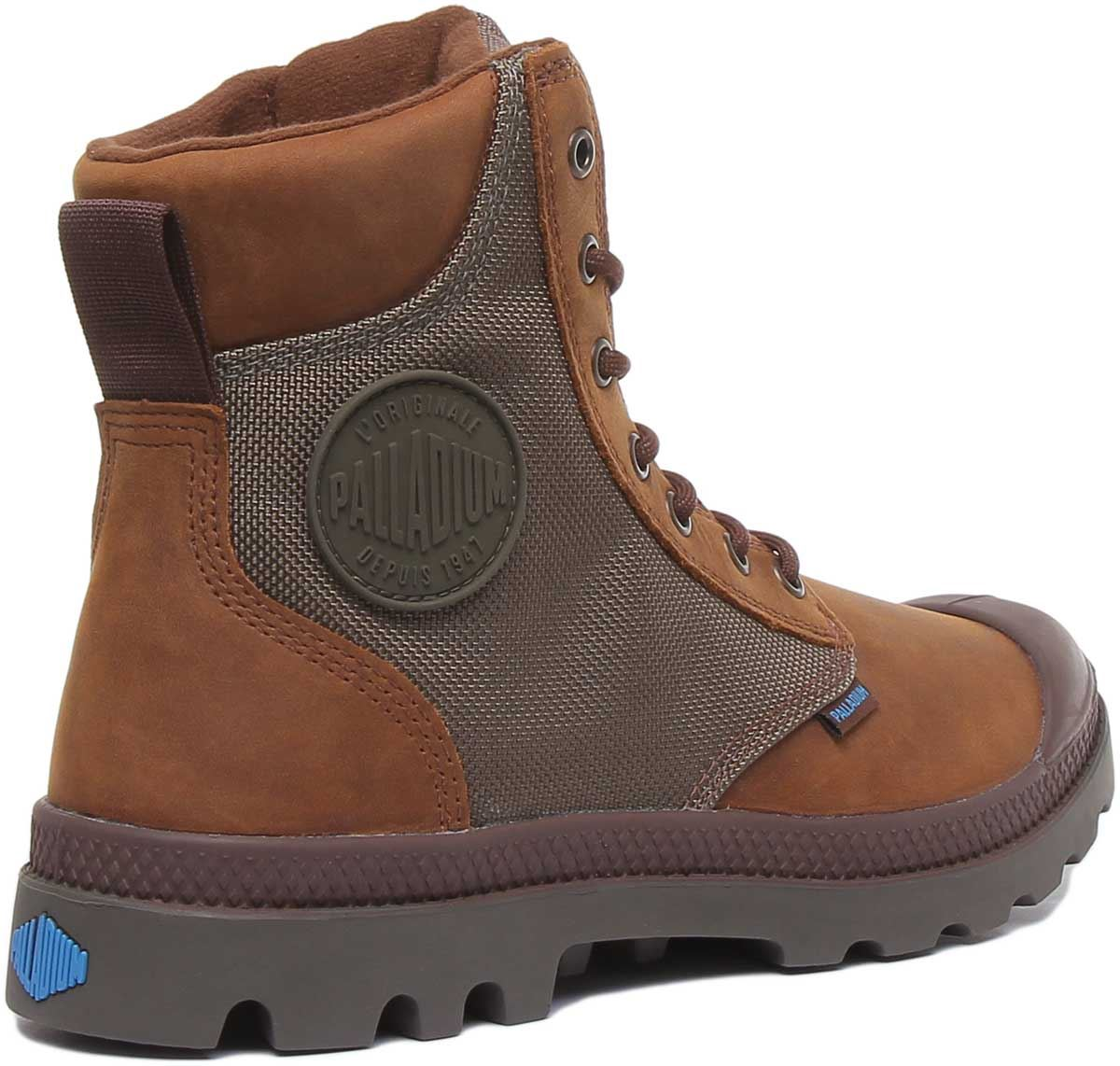 thumbnail 9 - Palladium Spor Cuf Wpn Lace Up Wp Eva Footbed Boot In Brown Size Uk 6 - 12