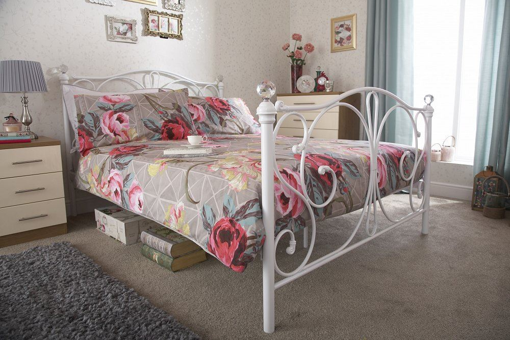 Metal-Scroll-Double-Bed-Frame-With-Crystal-Finials-4ft6-5ft-King-Size-Panache