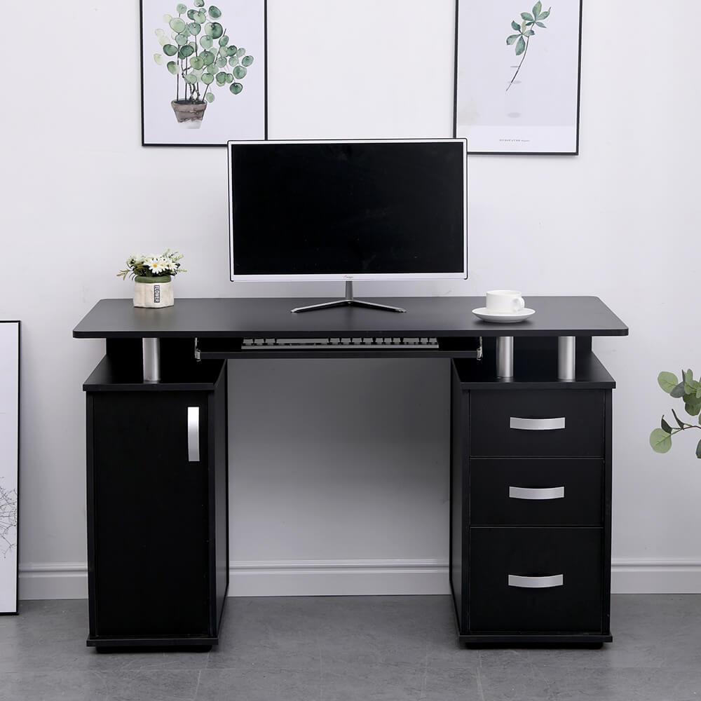 Saturn Black Computer Desk Pc Laptop Table Home Office Study Workstation Gaming Ebay