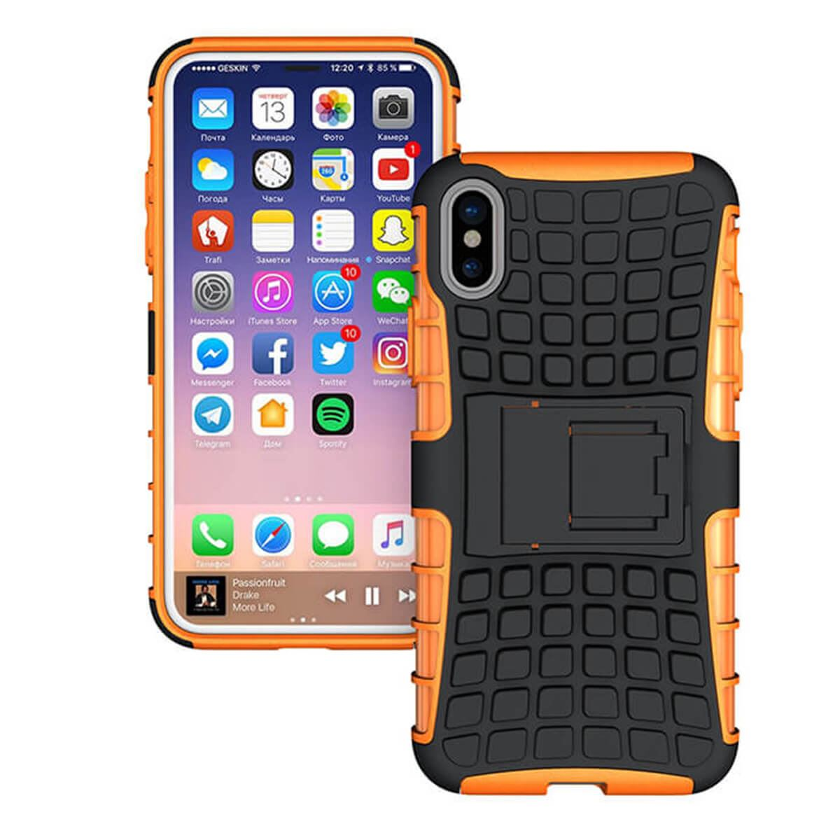 Shockproof-Case-Apple-iPhone-10-X-8-7-6s-Se-5-Hard-Heavy-Duty-Stand-Armour-Cover thumbnail 11