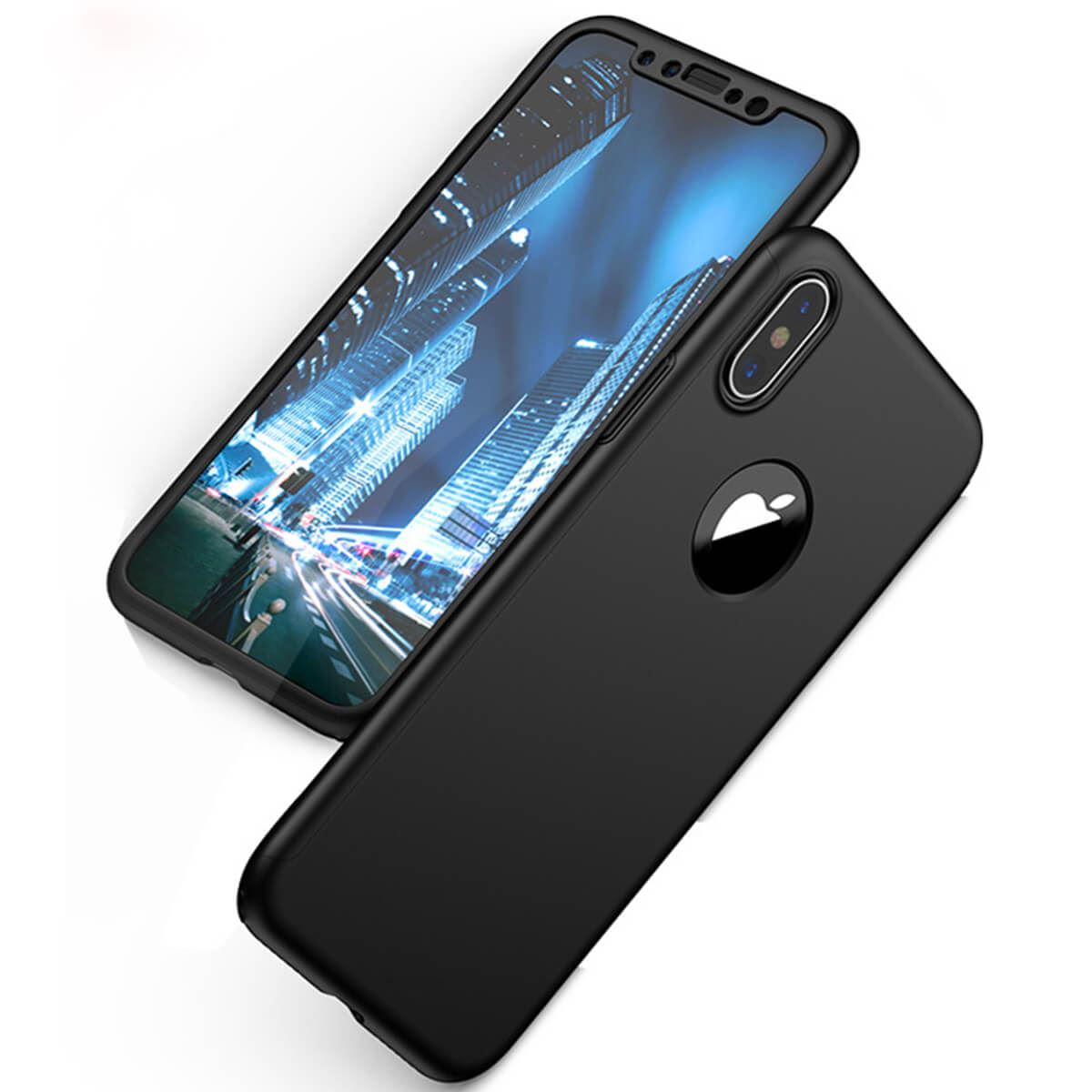 Tempered-Glass-Cover-For-Apple-iPhone-10-X-8-7-6s-5-Hybrid-360-Shockproof-Case thumbnail 24