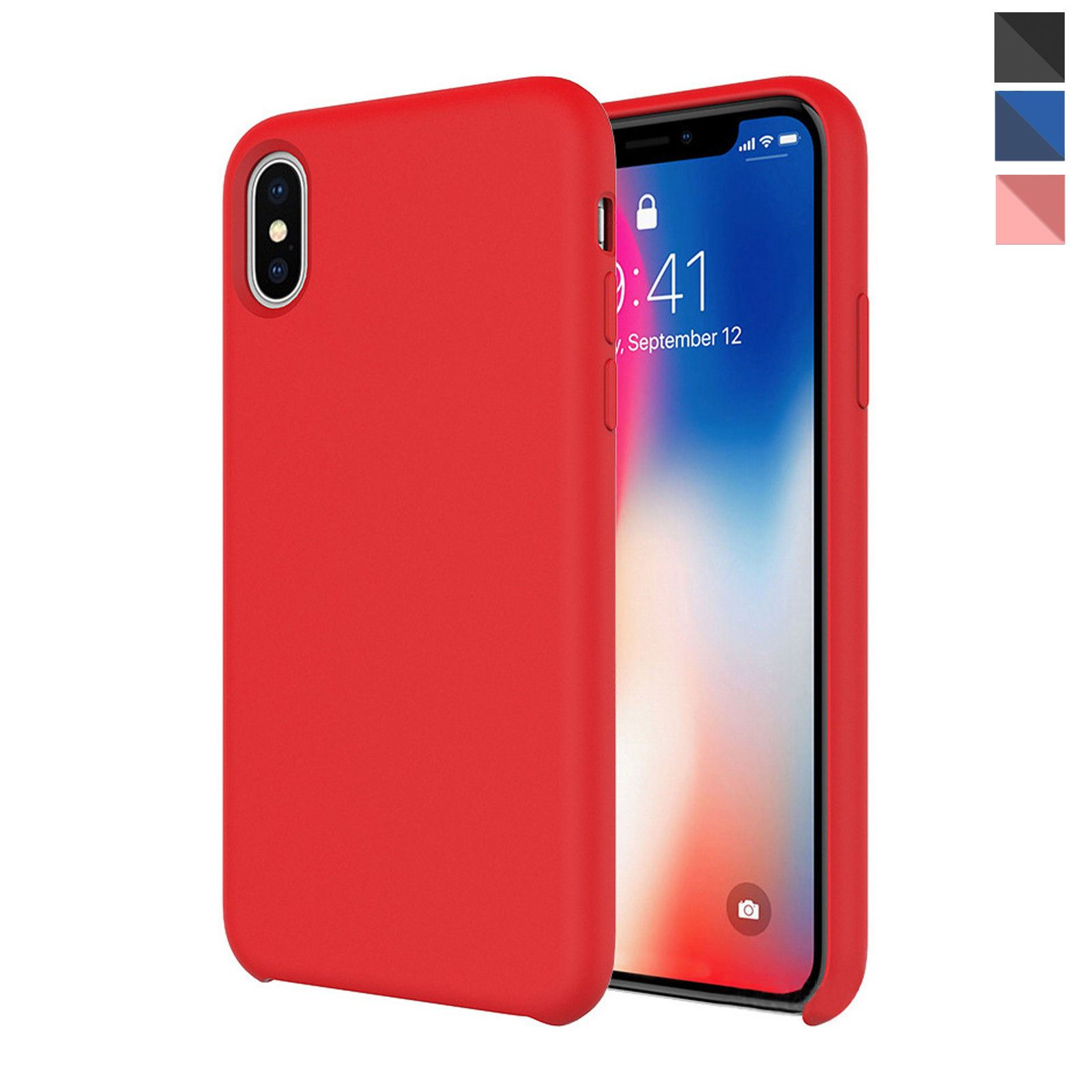 Details about Genuine Silicone Soft Liquid Luxury Case Cover For Apple  iPhone X 8 7 6s Plus 6 56c5f54bdf59f
