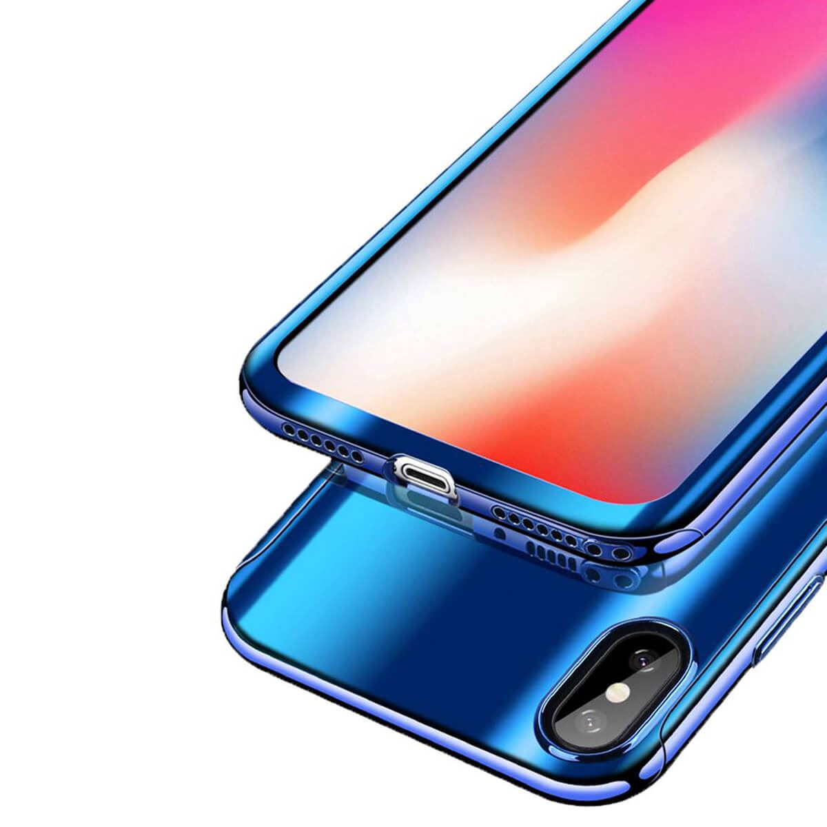 Tempered-Glass-Cover-For-iPhone-X-8-7-Plus-6s-5-Mirror-Hybrid-360-Hard-Thin-Case thumbnail 6