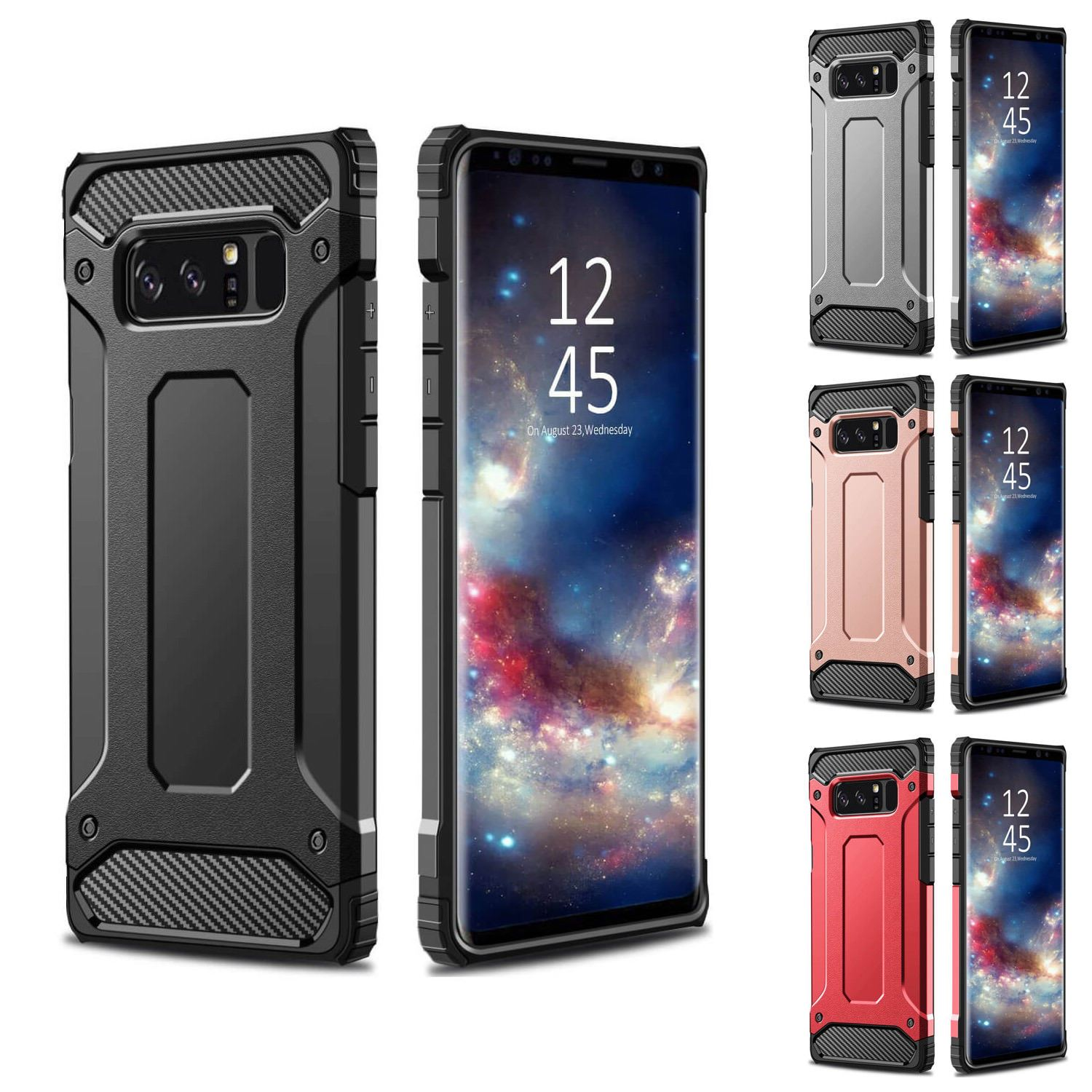 36bbe473346 Details about Hybrid Armor Shockproof Rugged Bumper Case For Samsung Galaxy  S7 Edge S8 Note S9