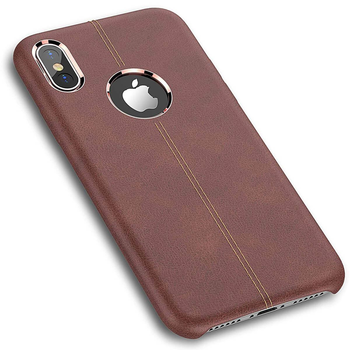 Rugged-Thin-Case-Skin-For-Apple-iPhone-10-X-8-7-Plus-6s-Genuine-Leather-Cover thumbnail 9