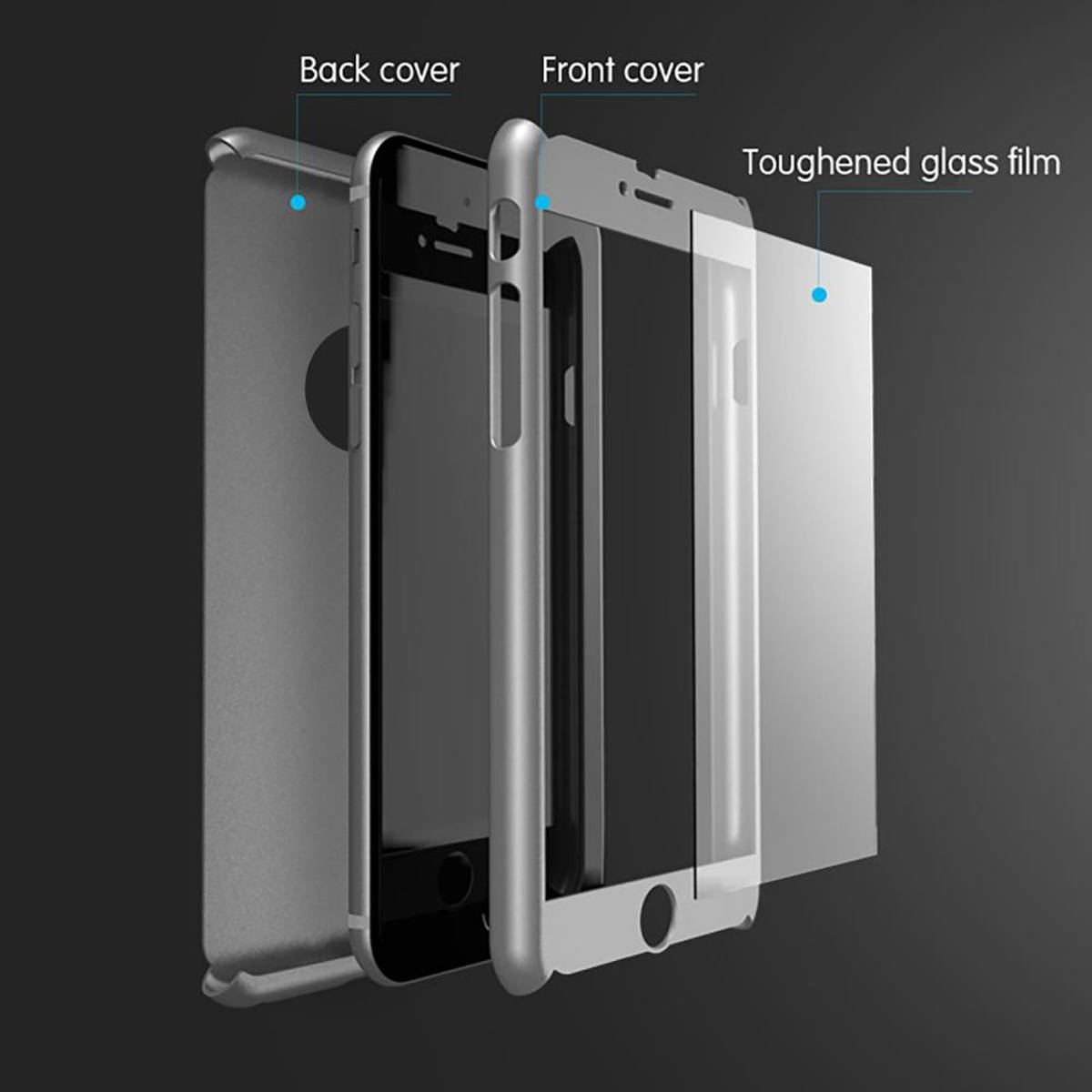 For-Apple-iPhone-XS-Max-XR-Hybrid-360-Slim-Ultra-Thin-Heavy-Duty-Shockproof-Case Indexbild 47