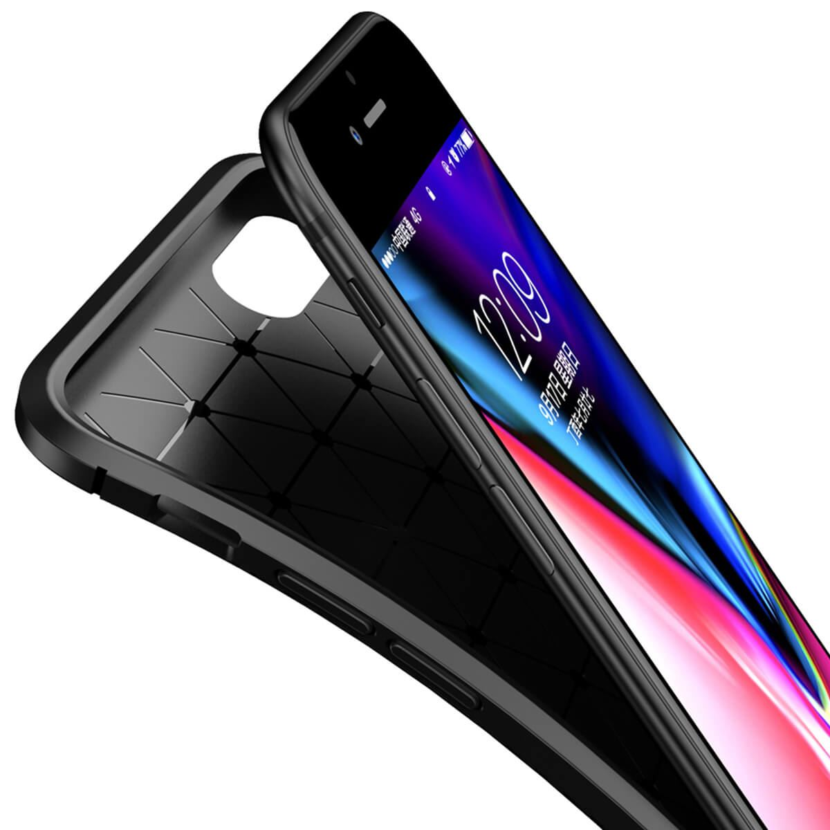 Carbon-Fibre-Soft-Case-For-iPhone-11-X-XR-Max-8-7-6-Plus-Slim-TPU-Silicone-Cover thumbnail 4