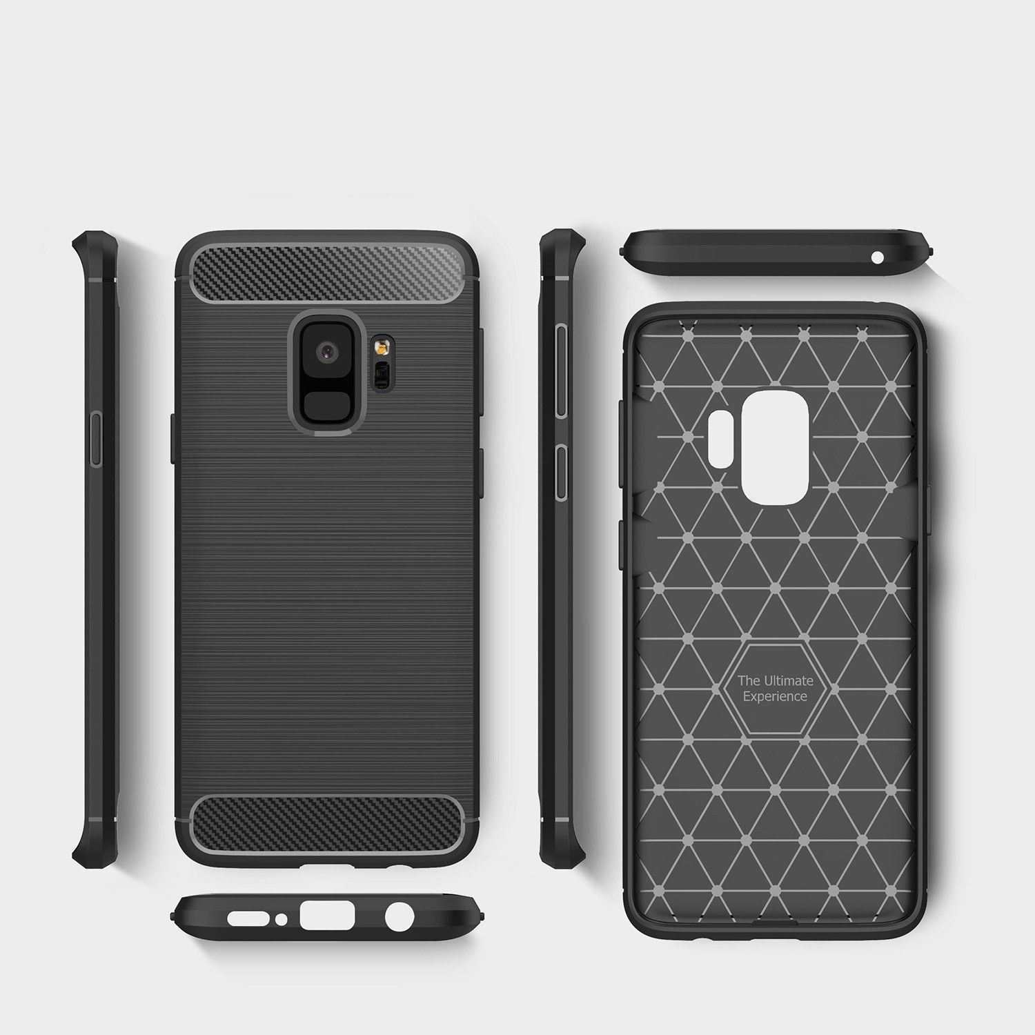 Antichoc-Luxury-TPU-Rugged-en-carbone-CASE-COVER-FOR-SAMSUNG-GALAXY-s9-amp-s9-plus miniature 43