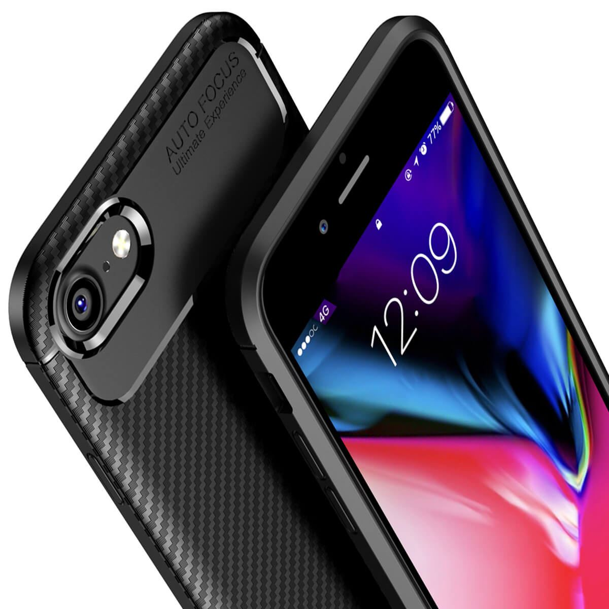 Carbon-Fibre-Soft-Case-For-iPhone-11-X-XR-Max-8-7-6-Plus-Slim-TPU-Silicone-Cover thumbnail 5