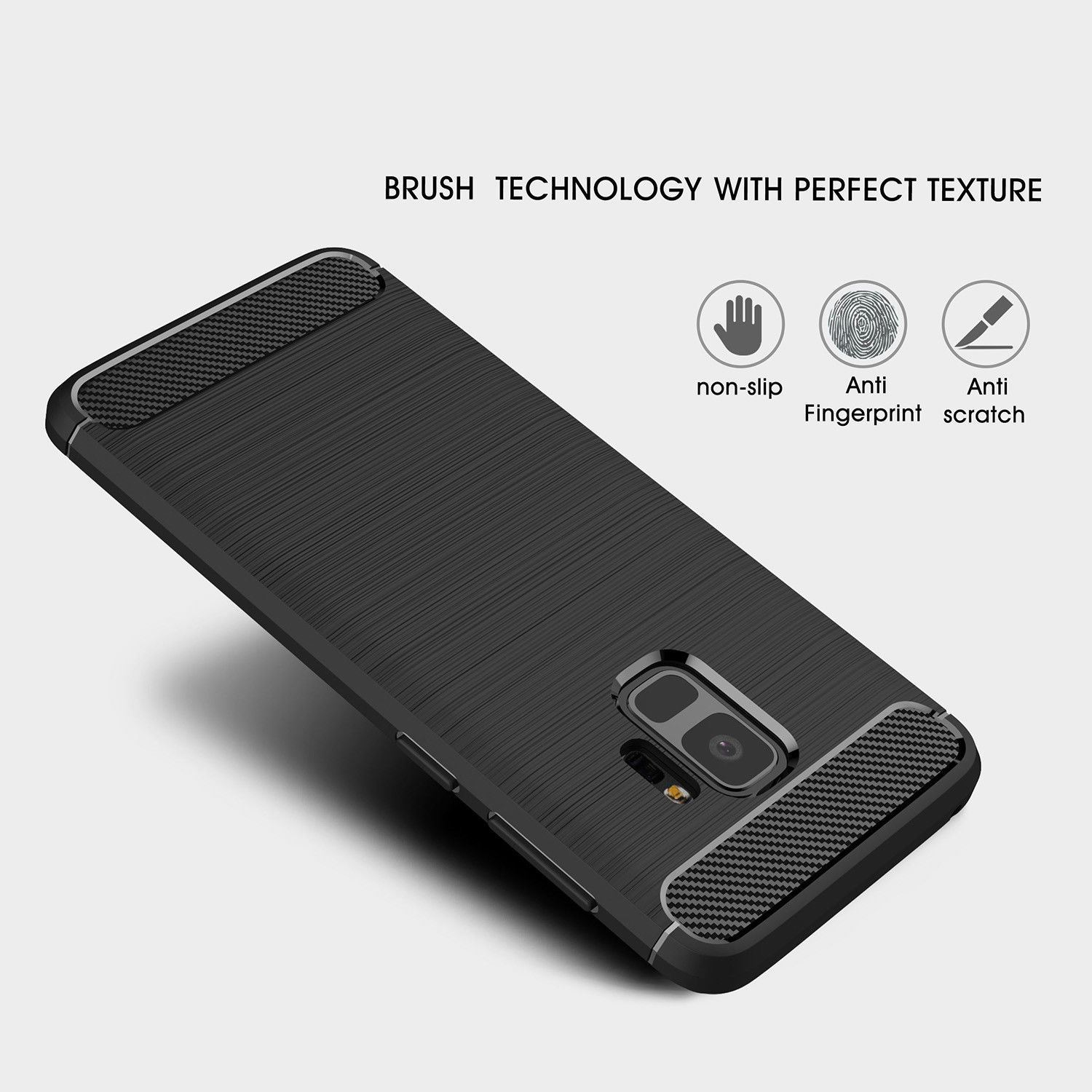 Antichoc-Luxury-TPU-Rugged-en-carbone-CASE-COVER-FOR-SAMSUNG-GALAXY-s9-amp-s9-plus miniature 35