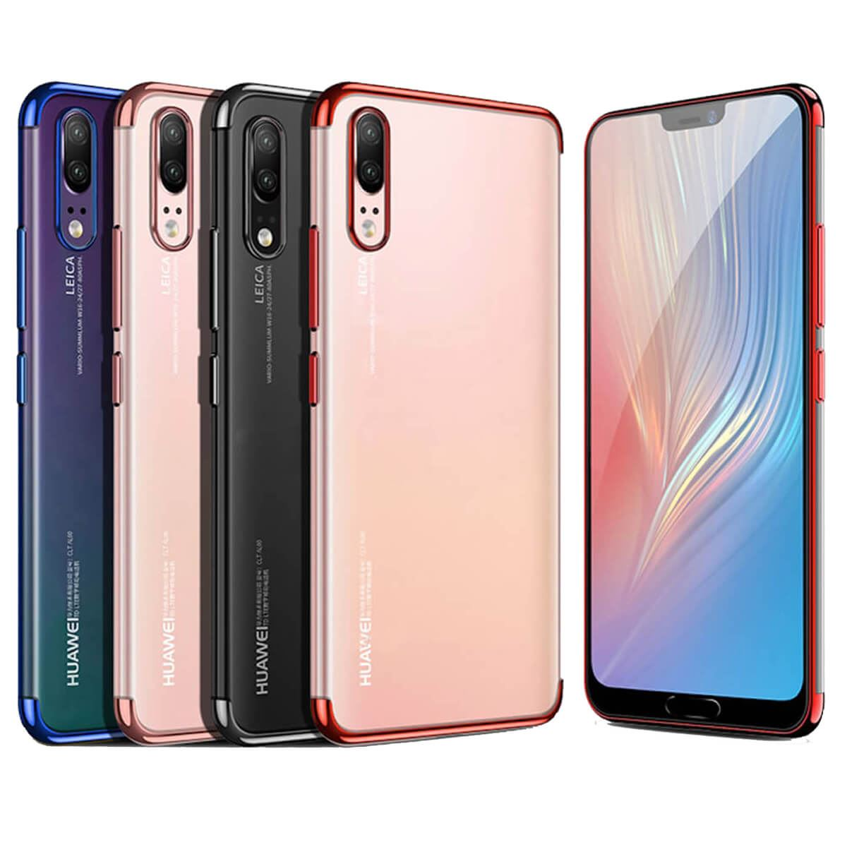 Case-For-Huawei-P20-Pro-P-Smart-Stylish-Hybrid-Shockproof-Plating-Silicone-Cover thumbnail 5