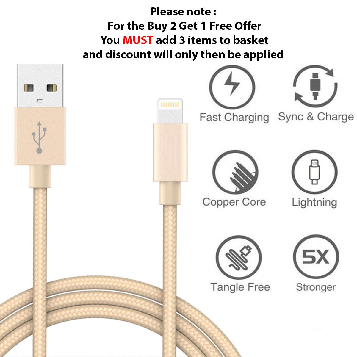 1M-2M-3M-Heavy-Duty-Braided-Lightning-Charger-Cable-For-iPhone-5-6-7-8-X-iPad thumbnail 72