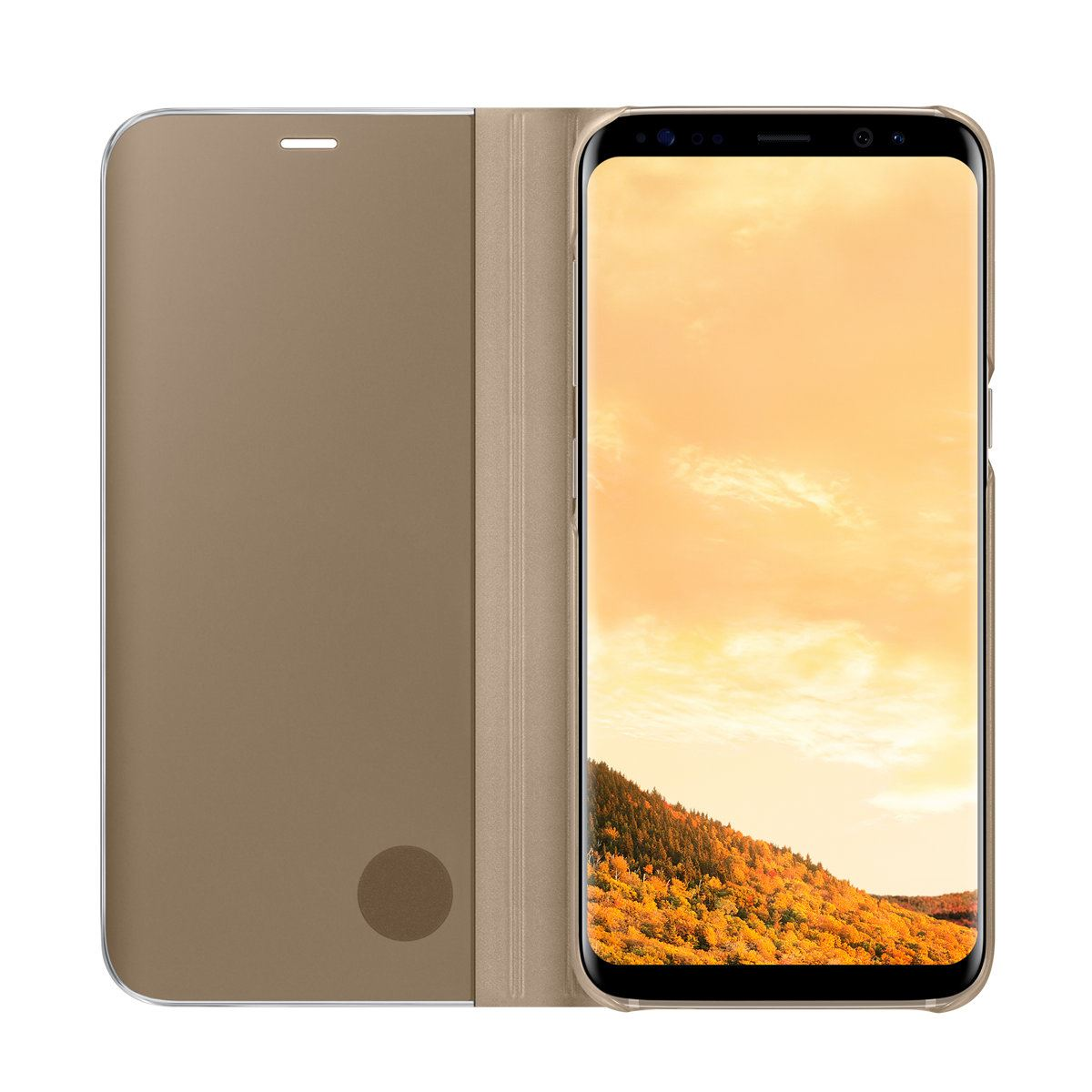 New-Samsung-Galaxy-S8-S9-S10-Smart-View-Mirror-Leather-Flip-Stand-Case-Cover thumbnail 44